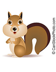 Squirrel cartoon - vector squirrel cartoon