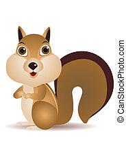 Squirrel cartoon - vector squirrel cartoon