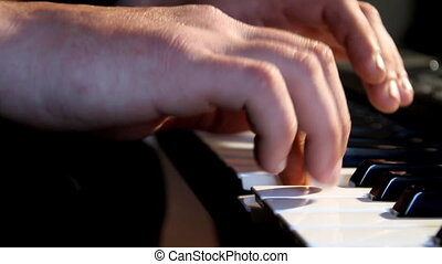 Musicant - Playing on synthesizer pianists hands