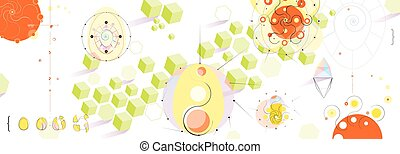Playful Panoramic Abstract Background