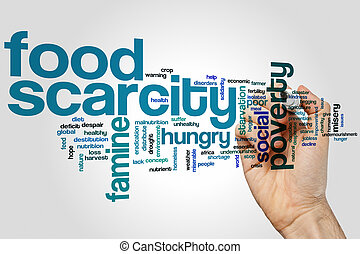 Food scarcity word cloud - Food scarcity concept word cloud...
