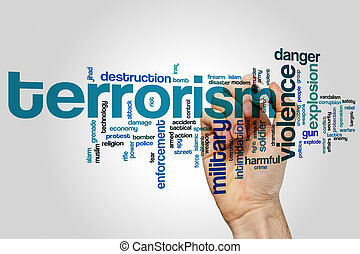 Terrorism word cloud - Terrorism concept word cloud...