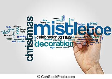Mistletoe word cloud
