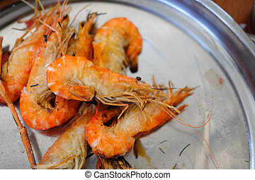 Grilled Shrimp on a plate