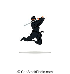 Vector Asian Ninja Cartoon Illustration