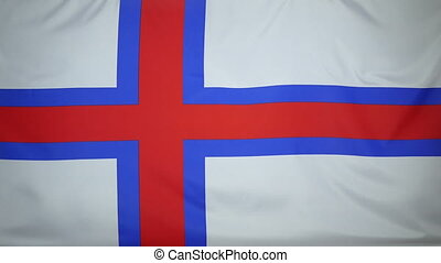 Faroe Islands Flag real fabric - Textile flag of Faroe...