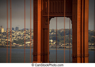 Golden gate Bridge with San Francisco in the background