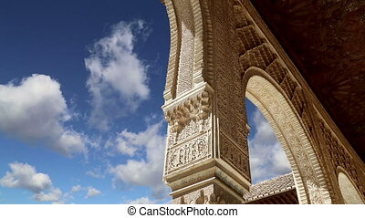 Alhambra Palace in Granada, Spain - Alhambra Palace -...