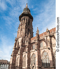 Freiburg Cathedral Main Tower - Main tower of world famous...