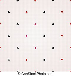 Seamless background of card suits