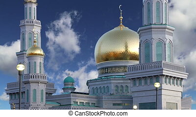 Moscow Cathedral Mosque, Russia -- the main mosque in...