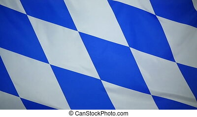 Slowmotion textile Flag of Bavaria - Slowmotion of a real...