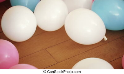 Balloons on the floor - On children birthday party on floor...