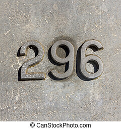 Number 296 - House number two hundred and ninety six