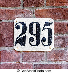 Number 295 - House number two hundred and ninety five