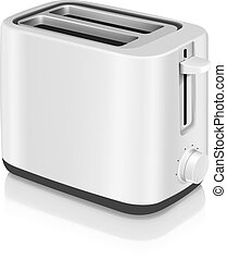 Photorealistic electric toaster - Photorealistic vector...