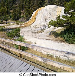 Yellowstone National Park - Orange Spring Mound in...