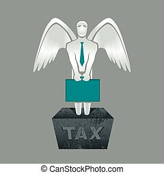 Tax obligation - Illustration of tax obligation man with...