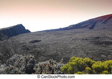 isla,  formica,  leo,  cráter,  reunión, francia