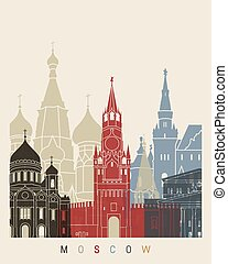 Moscow skyline poster