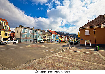 Bad sankt Leonhard im Lavanttal colorful streetscape - Town...