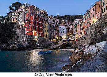 Riomaggiore in  Cinque Terre, Italy