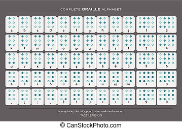 gray braille - full Braille alphabet poster with latin...