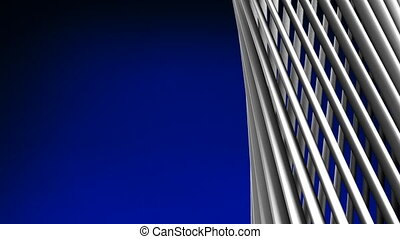 White Poles Abstract On Blue Text Space Loop able 3DCG...