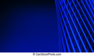 Blue Poles Abstract On Blue Text Space. Loop able 3DCG...