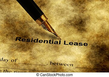 Fountain pen on residential lease