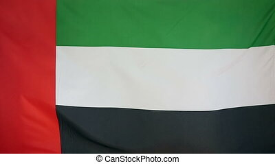 Slowmotion textile Flag of UAE - Slowmotion of a real...