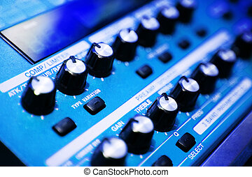 mixer - blue mixer in a studio