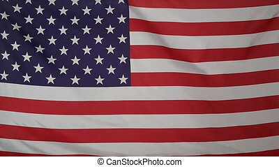 Slowmotion textile Flag of USA - Slowmotion of a real...
