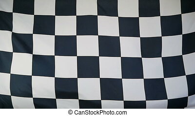 Slowmotion textile Finish Flag - Slowmotion of a real...