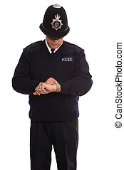 Policeman timecheck - If you want to know the time ask a...