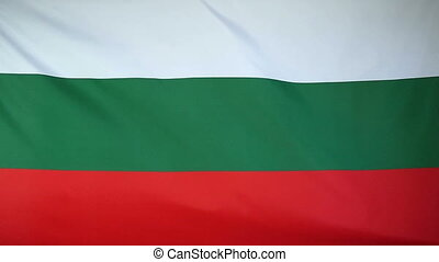 Slowmotion textile Flag Bulgaria - Slowmotion of a real...