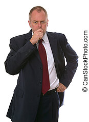 Businessman thinking. - Businessman in a thinking pose.