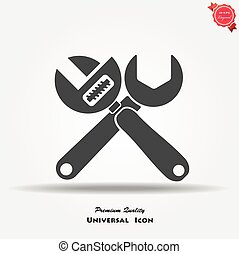 adjustable wrench isolated vector icon