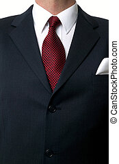 Shirt and tie torso - Close up of a businessman wearing a...