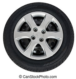 Front view of car wheel
