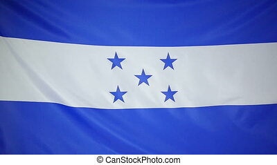 Slowmotion textile Flag Honduras - Slowmotion of a real...