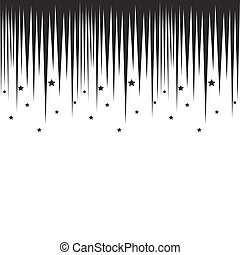 Falling stars horizontal black border. Repeatable background...