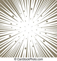 Shooting stars background. Starburst gold radial. - Shooting...