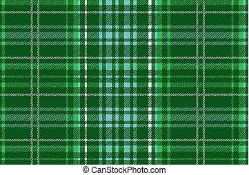 Green vector tartan inspired pattern background Vector...