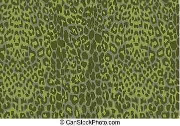 Seamlessly repeatable pattern - A green jaguar spotted...