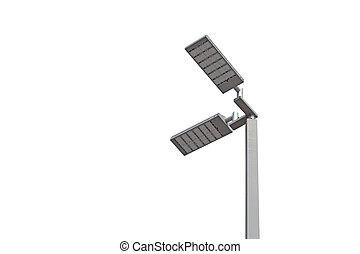 LED light post isolated on white background