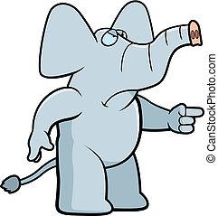 enojado, elefante