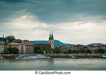 picturesque view on Budapest from Danube - picturesque view...