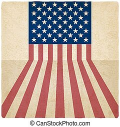 American flag old background