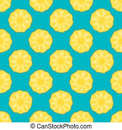 pineapple seamless pattern blue background. vector...
